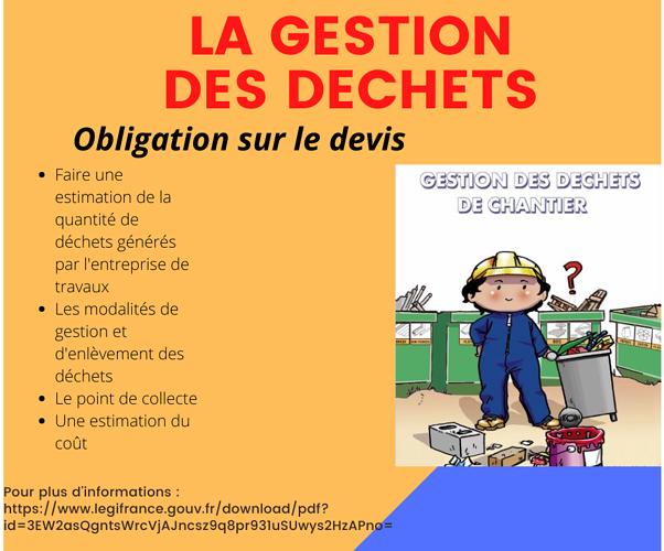 NOUVELLE REGLEMENTATION SUR LA GESTION DES DECHETS 0